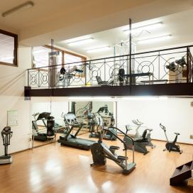 Two-story gym at Sommos Hotels