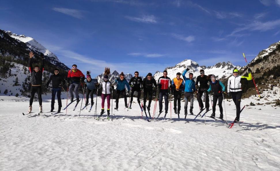 Esquí de fondo y raquetas de nieve en el Pirineo